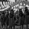 【写真複製・写真修復の専門店】盆踊りの白黒写真をカラーに