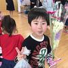 卒園式に花束を。