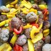 肉団子とパプリカの黒甘酢