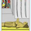カチカチ山のお婆さん 静かに眠る