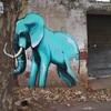 南アフリカのストリートアート ゾウをモチーフにしたグラフィティが秀逸