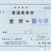 愛野→喜々津 普通乗車券