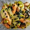 大葉とブロッコリーのスパゲッティ