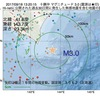 2017年09月18日 13時20分 十勝沖でM3.0の地震