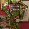 薔薇と桜小紋×蝶織名古屋帯