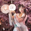 上海夜の古装桜ポートレート撮影会IN上海雕塑公園