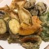 山菜の天ぷらと尻にひかれる枕