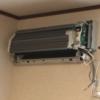 寝室のエアコン室内機からの水漏れ修理