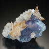 Color zoned sky blue fluorite from Illinois