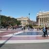 フードコートからカタルーニャ広場を見おろす~ バルセロナのデパート