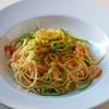 「からすみと万願寺とうがらしの和風ペペロンチーノ・スパゲティ」のご紹介