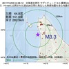 2017年10月03日 04時58分 北海道北西沖でM3.3の地震