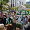 新潟県知事選挙立候補者の街頭演説会
