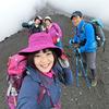 ユミコサロン富士山チームで宝永山に。