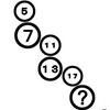 【算数なぞなぞ】 5, 7, 11, 13, 17,?のハテナには何が入る????