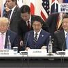 """""""G20""""3題:トランプ氏「安倍首相は安保改定に異議ない」,「GDPトップ3が肩寄せ合って」,「首相あいさつ」"""