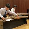 ホールで舞台発表の練習しました。