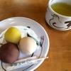 美味しい言問団子+緑茶で、お散歩の疲れが一気に解消(^o^)