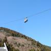 鶴見岳から降りてロープウエイを見上げる(大分県別府市)