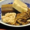 豊洲の「米花」で鴨ねぎ丼、白子、高野豆腐、きのこ、こんにゃくの煮物。