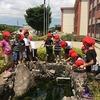 樹木の消毒(毛虫対策) なかよし遊び 体力テスト(再テスト) 授業の様子 プールの準備OK