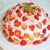 イチゴモンブランもどきケーキ/My Homemade Strawberry Cake/