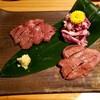 新橋のお洒落な小料理屋。いっ星で日本酒をいただく。