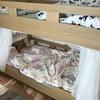 イケアのレースカーテンLILLで2段ベッドにカーテンをつける