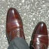 ホテルオークラで靴磨き。