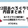 【あべろぐラジオ 番外編】 有料note公開記念スペシャル!『第22回あべろぐラジオ』内容まとめてみたよ!