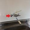 キッチンの壁出し水栓交換・ニューアイテムツイストブラシ