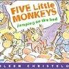 小学校でも大人気!『Five little Monkeys』の歌詞を口ずさんで、英語の単語や音を身につけよう。