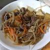 幸運な病のレシピ( 1603 )朝:鮭、カレイの煮漬け、牛肉とナスの炒め、味噌汁