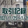 2021/1/25週の米国株オプション取引(確定利益$971、含み損$-5,405)