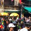 カオサン通りで水掛け祭り2017!!