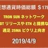2019/4/9 仮想通貨時価総額19兆に減少 ドル111円前半