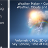 Weather Maker - Sky, Weather, Fog and Volumetric Lighting System 晴天から緩やかに曇り空へ「雷雨 / 雪 / 雹」を降らせる天候システム。3Dだけじゃなく2Dにも対応