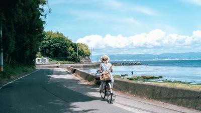 【福岡】海の向こうの花園を目指して。空色ワンピースで巡る真夏の島旅