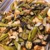 鶏肉と万願寺唐辛子 茄子の炒め物