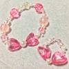 【ハンドメイド】ハートリボンのブレスレット、指輪を4歳の娘へプレゼント♪