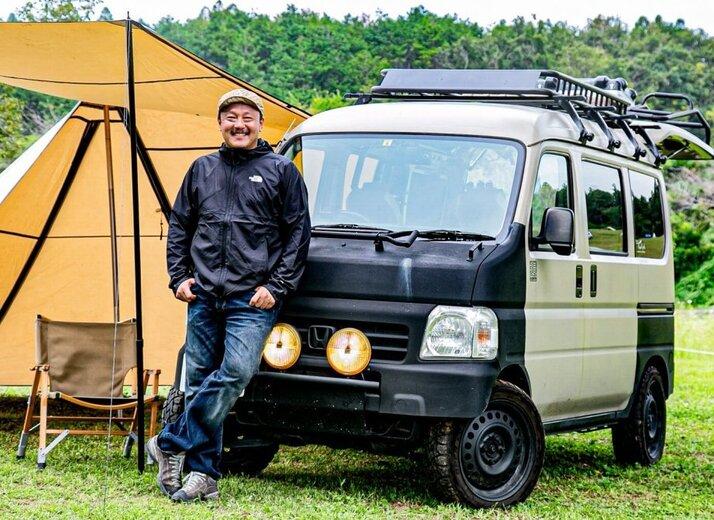 アクティバンを男前カスタム!キャンプの達人が愛車とギアで自分らしさを演出