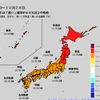 【1か月予報】向こう1か月は全国的に暑く、降水量は多めの予想!特に東北地方には異常天候早期警戒情報が発表されており、10月2日頃から約1週間は平均気温がかなり高くなりそう!!