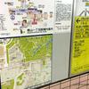 東京メトロのホームに地上地図が