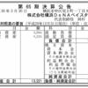 株式会社横浜DeNAベイスターズ 第65期決算公告