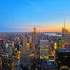 【これがニューヨークの夜景1】ロックフェラーセンターの展望台のトップ・オブ・ザ・ロック!!