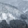 富山県南砺市、庄川峡と五箇山相倉集落の冬景色(壁紙配布有)