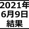 2021年6月9日結果 含み損は-60万円に近づく