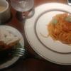 神田【Pasta Fresca】海老とバジルのトマトソース ¥1000