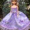 薄紫のドレス