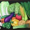 野菜のチョークアートの続き